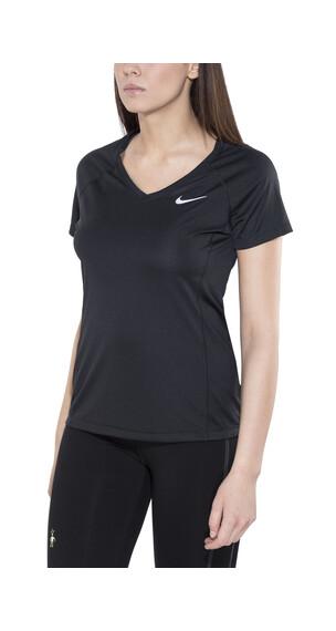 Nike Dry Miler SS Top V-Neck Women black/black